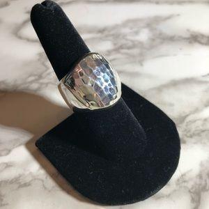 ELLE Sterling Silver Hammered Band Ring Size 8